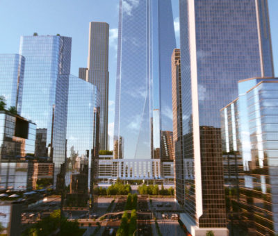 City animated by Magoo - 3d animation, 3d Design, Kone, Elevator movie