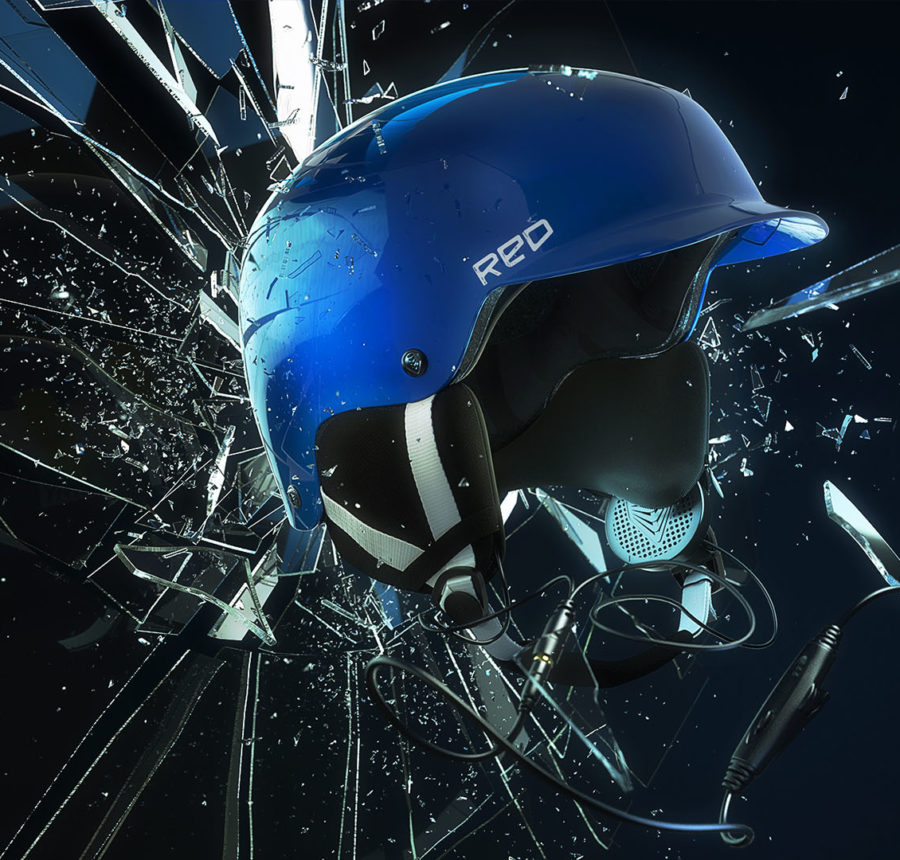 3d Helmets | Red
